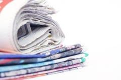 Pilha de jornais fotografia de stock