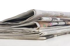 Pilha de jornal, conceito da informação Fotos de Stock