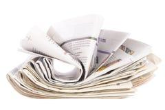 Pilha de jornal, conceito da informação Imagens de Stock Royalty Free