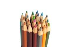 Pilha de lápis coloridos Fotografia de Stock Royalty Free