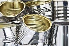 Pilha de latas de estanho fotografia de stock