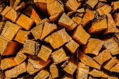 Pilha de lenha Imagens de Stock