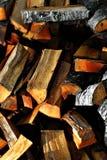 Pilha de lenha Fotos de Stock