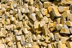 Pilha de lenha Imagem de Stock