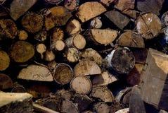 Pilha de lenha Fotografia de Stock