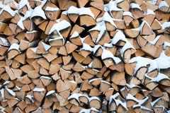 A pilha de lenha Imagem de Stock Royalty Free