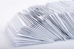 Pilha de letras do cargo imagem de stock royalty free