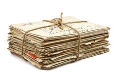 Pilha de letras velhas foto de stock
