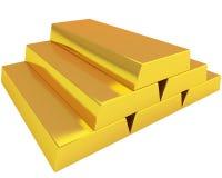 Pilha de lingotes do ouro Fotos de Stock Royalty Free
