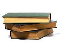 Pilha de livro isolada no branco Imagem de Stock Royalty Free