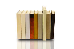 Pilha de livro no fundo branco Fotografia de Stock