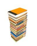Pilha de livros com trajeto imagem de stock