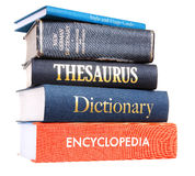 Pilha de livros de referência Imagem de Stock