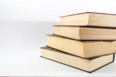 A pilha de livros fecha-se acima fotografia de stock royalty free