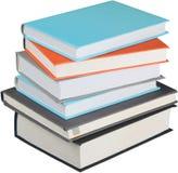 Pilha de livros isolados no fundo Fotografia de Stock Royalty Free