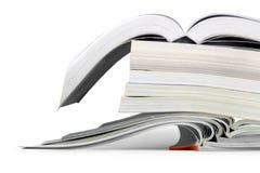 Pilha de livros isolados no fundo Imagem de Stock Royalty Free