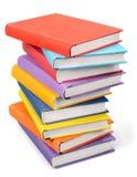 Pilha de livros isolados no fundo Imagem de Stock