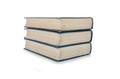 A pilha de livros isolou o fundo branco Imagem de Stock Royalty Free