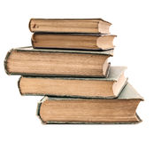 Pilha de livros muito velhos Imagens de Stock