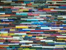 Pilha de livros, de novela e de dicionário fotografia de stock royalty free