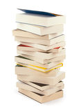 Pilha de livros novos - trajeto de grampeamento Imagem de Stock Royalty Free