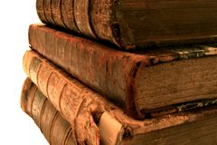 Pilha de livros velhos. foto de stock royalty free