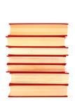 Pilha de livros vermelhos Fotos de Stock