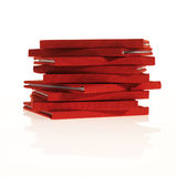 Pilha de livros vermelhos pequenos Imagem de Stock Royalty Free