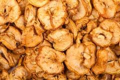 Pilha de maçãs secadas Foto de Stock Royalty Free