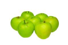 Pilha de maçãs verdes. fotos de stock royalty free