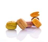 Pilha de macarons franceses coloridos cor pastel Fotos de Stock