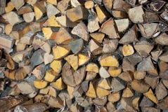 Pilha de madeira. Fotografia de Stock