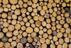 Pilha de madeira Foto de Stock Royalty Free