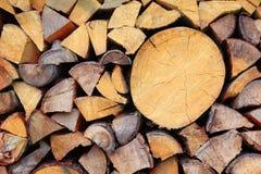 Pilha de madeira Fotografia de Stock