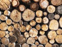 Pilha de madeira Fotos de Stock