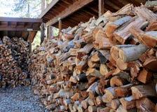 Pilha de madeira Fotos de Stock Royalty Free