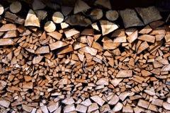 Pilha de madeira Imagens de Stock