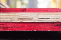 Pilha de madeira compensada Imagem de Stock