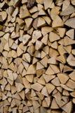 Pilha de madeira desbastada Fotos de Stock Royalty Free