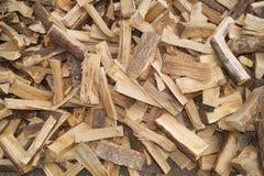 Pilha de madeira do fogo fotos de stock