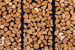 Pilha de madeira fora Fotografia de Stock