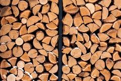 Pilha de madeira fora Foto de Stock