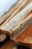 Pilha de madeira para a construção Fotografia de Stock Royalty Free