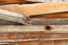 Pilha de madeira para a construção Imagens de Stock Royalty Free