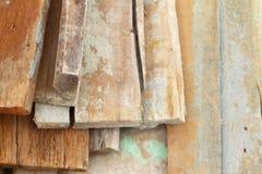 Pilha de madeira para a construção Foto de Stock Royalty Free