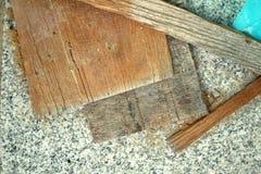 Pilha de madeira para a construção Fotos de Stock Royalty Free
