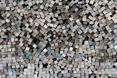 Pilha de madeira serrada Fotos de Stock Royalty Free