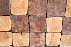 Pilha de madeiras da madeira serrada Foto de Stock