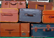 Pilha de malas de viagem fotos de stock
