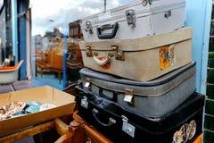 Pilha de malas de viagem Foto de Stock Royalty Free